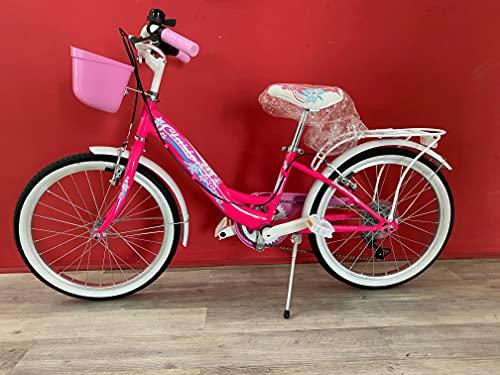 Bicicleta para niña Cinzia Candy de 20 pulgadas, cambio de 6 V, Shimano fucsia
