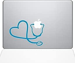 "The Decal Guru Heart Doctor Decal Vinyl Sticker, 15"" MacBook Pro (2015 & Older Models), Light Blue (1417-MAC-15P-LB)"