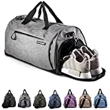 Fitgriff Sporttasche Reisetasche mit Schuhfach & Nassfach - Männer & Frauen Fitnesstasche - Tasche für Sport, Fitness, Gym - Travel Bag & Duffel Bag 58cm x 31cm x 31cm [50 Liter] (Grey, Medium)