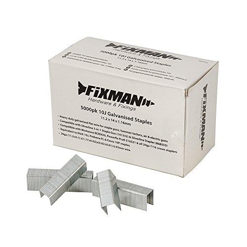 Fixman 455701 10J- Grapas galvanizadas (11,2 x 14 x 1,16 mm, 5000 unidades)