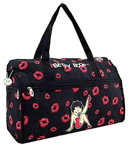 Betty Boop Red Lips Duffle Bag Tote