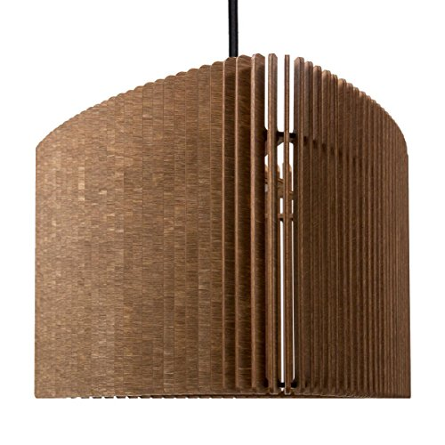 farbflut Design Triangulo Suspension en bois Design moderne Cognac