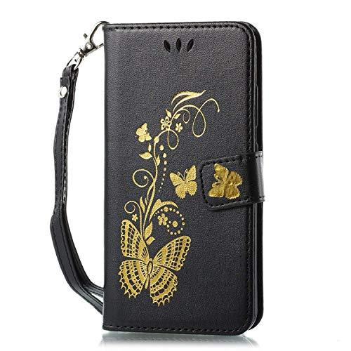 Felfy Huawei Nova 2 Plus Hülle Leder Flip Tasche mit Kartenfach Klapphülle Hülle