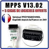 MISTER DIAGNOSTIC Valise Interface MPPS V13.02 OBD OBD2 Scanner Flash Tuning + Logiciel MPPS V16