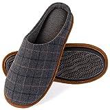 ZIZOR Zapatillas Cómodas de Casa para Hombre, Pantuflas de colores de contraste en verano o invierno, Gris Oscuro, 425/435 EU