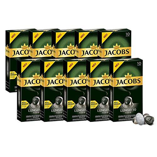 JACOBS Kapseln Lungo 10 Forte 100 Nespresso®* kompatible Kaffeekapseln 10x10