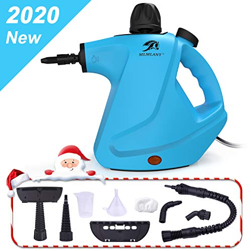 MLMLANT Multi-Purpose Handheld Pressurized Steam Cleaner 450ml Water Tank Capacity with 9-Piece...