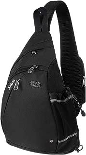 Sling Bag, Crossbody Chest Shoulder Backpack with Bottle Holder for Women Men