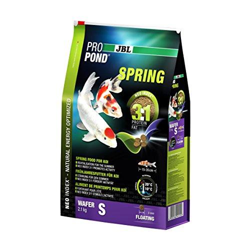 JBL Frühjahrsfutter für Koi, Schwimmende Futterwafer, Saisonfutter, ProPond Spring, Größe S, 2,1 kg