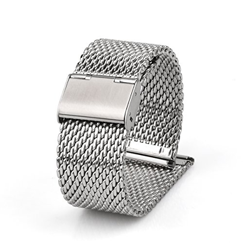 Adallor Cinturino Metallo, 18 20 22 24 mm Cinturini Orologio in Acciaio...