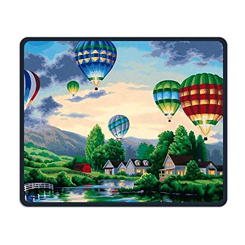 Hot Air Ballonnen Wallpapers Comfortabele Rechthoek Rubber Base Mousepad Gaming Mouse Pad