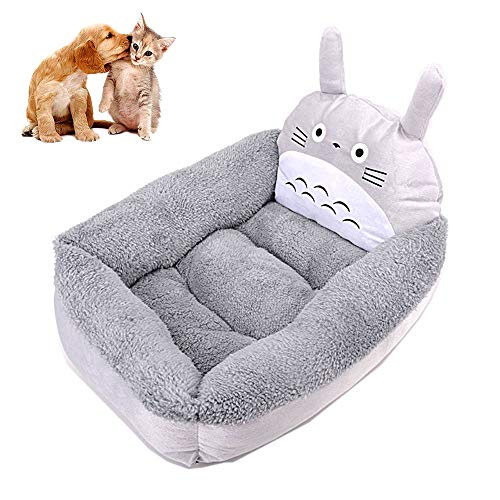 Shape Pet Bed, Gray Cat Bed My Neighbour Dog Bed Studio Ghibli Hayao Miyazaki in Fall and Winter,L