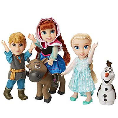 Disney Frozen Deluxe Petite Doll Gift Set - Includes Anna, Elsa, Kristoff, Sven and Olaf! Dolls are approximately 6 inches tall - Perfect for any Frozen fan!