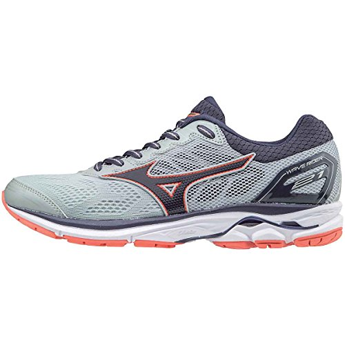 Mizuno Women's Wave Rider 21 Running Shoe Athletic Shoe, high rise/gray stone,11.5 US