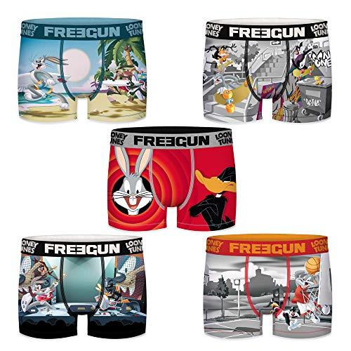 Freegun Herren Boxershorts Looney Tunes Gr. S, 5er Pack