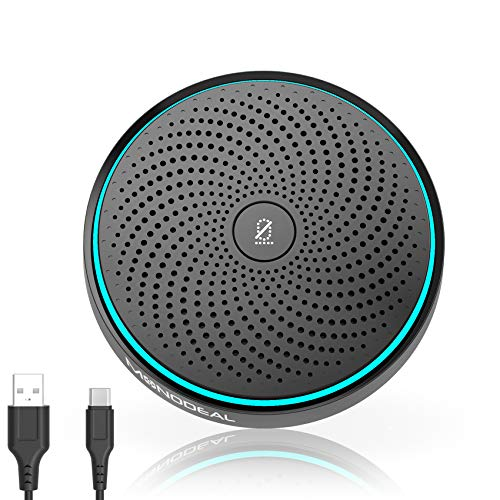 Microfono USB per Conferenza, Microfono per PC Video Conferenza, Registrazione, Skype, Classe Online, Giochi, Zoom, Plug & Play Compatibile con Mac Windows PC