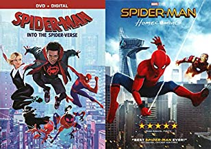 Two Street Smart Kids In Two Different Universes: Spider-Man Homecoming + Spider-Man Into The Spider-Verse 2 Movie SUPER Spidey Bundle