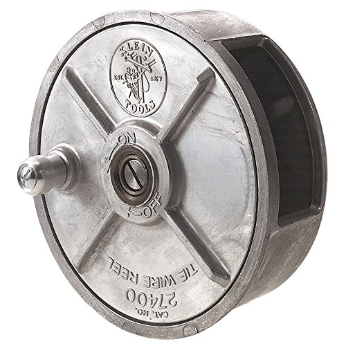 Klein Tools 27400 Tiewire Reel Lightweight Aluminum Left Handed and Right Handed with Rewind Knob