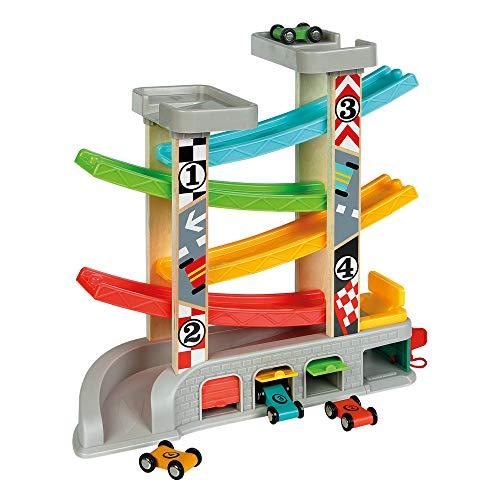 WOOMAX- Circuito pista con garaje y coches (Colorbaby 46257)