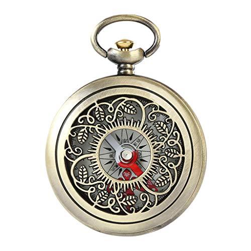 Ycncixwd Vintage Bronze Kompass Taschenuhr Design Outdoor Wandern Navigation Kid Geschenk