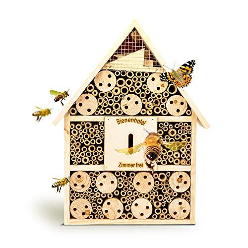 bambuswald© Insektenhotel 28,5 x 9 x 39 cm | Bienenhotel Unterschlupf für Insekten - Insektenhaus Naturmaterialien. Gelebter Natur- & Artenschutzfür Zuhause -NistkastenHausNützlingshotel Schutz