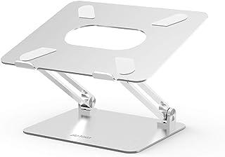 BoYata ノートパソコンスタンド パソコンスタンド PCスタンド 高さ/角度調整可能 姿勢改善 腰痛/猫背解消 折りたたみ式 ノートPCスタンド 滑り止め アルミ合金製 ホルダー 軽量 Macbook/Macbook Air/Macbook Pro/iPad/ノートPC/タブレットなど17インチまでに対応 BST-10(シルバー)