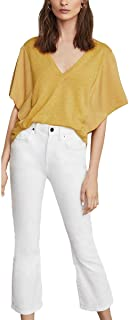 Women's Cropped Stretch Jeans in Optic White