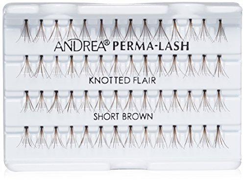 Andrea Permalash Individual Lashes - Flair Short Brown, 56-Count (Pack of 4)