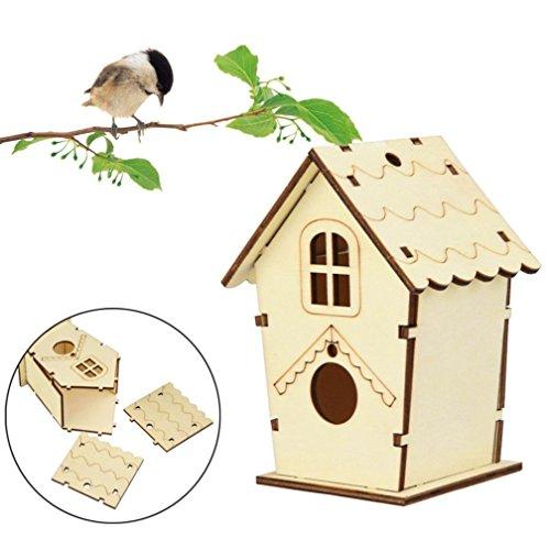 gaddrt DIY Nistkasten Nest Haus Vogelhaus Vogelhaus Vogel Box Vogel Box Holzkiste