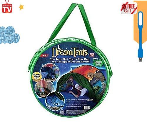Tents Spielzelte Bettzelt Bettzelt Traumzelt Kid's Fantasy Kinder Schlafzimmer Dekoration Kinder Lesen (Dinosaurier)