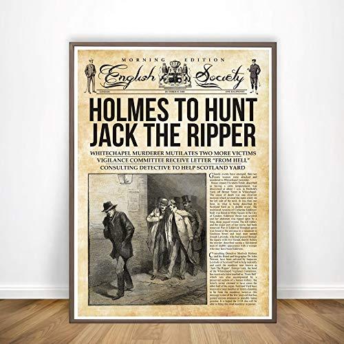 yhyxll Sherlock Holmes Jagt Die Yeti Holmes Zeitung Mehrere Serie Poster Kunst Malerei Wandbilder Wohnkultur Eine 40x60 cm