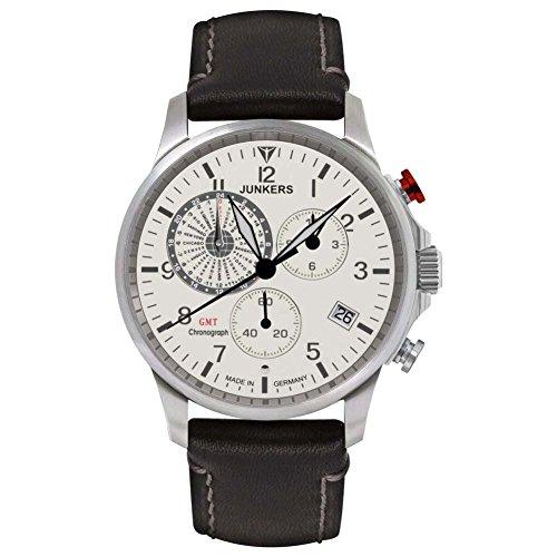 Junkers Herren Chronograph Quarz Uhr mit Leder Armband 68925