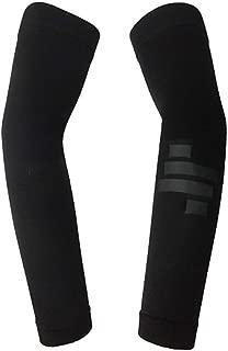 Tela de ara/ña Profesional Manguitos de protecci/ón para el Codo Antideslizante Calentadores de Codo Mangas para Deportes al Aire Libre Ciclismo Negro y Oro M