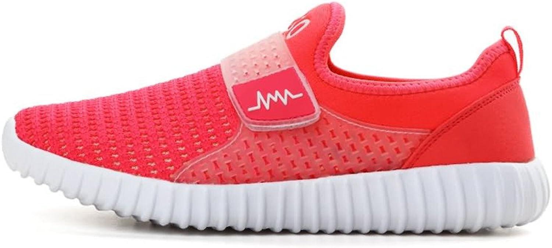 Battle Men Women's and Men's Flat Heel Mesh Fabric Athletic shoes Fashion (color   orange Red, Size   6.5 D(M) US)
