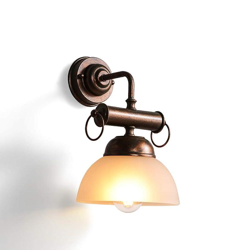 シーケンス乳白色広々としたラオハオ レトロクリスタルガラスウォールランプ、クリエイティブ産業風シングルヘッドウォールランタン、バーアイルカフェレストランリビングルームベッドルーム廊下リビングルームベッドルーム廊下用装飾壁ランプ取り付け用燭台 ウォールウォッシャー