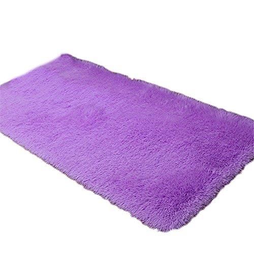 MoGist - Felpudo para Navidad, monocolor, antideslizante, color lila