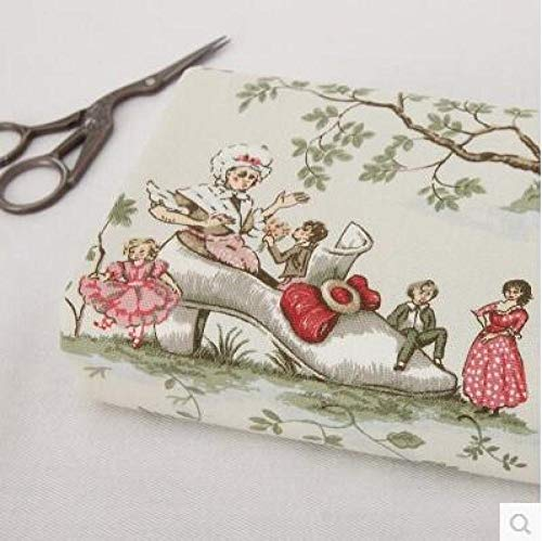Patchwork para tela 50x145cm vintage Europa cuento de hadas tela de arpillera para coser textil Lting DIY almohada cortina monedero