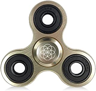 Premium Aluminum Alloy Spinner Fidget by Flickits (GOLD) - Ultra High Speed Tri-Spinner Fidget Toy Stress Reducer with Premium Bearing Hand Fidget Spinner for ADHD, Anxiety, For Adults and Children