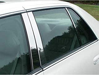 QAA FITS DEVILLE/DTS 2000-2011 Cadillac (6 Pc: Stainless Steel Pillar Post Trim Kit, 4-Door) PP40246