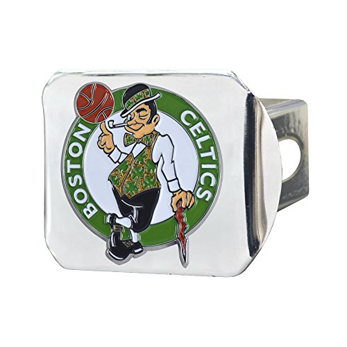 FANMATS NBA Boston Celtics NBA - Boston Celticscolor Hitch - Chrome, Team Color, One Size