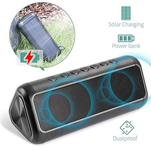 Heylas Bluetooth luidspreker met ingebouwde microfoon, anti-zonne-bluetooth audio, hoogwaardige subwoofer met 12 W en twee luidsprekers, draadloze luidspreker voor iPhone, Samsung enz.