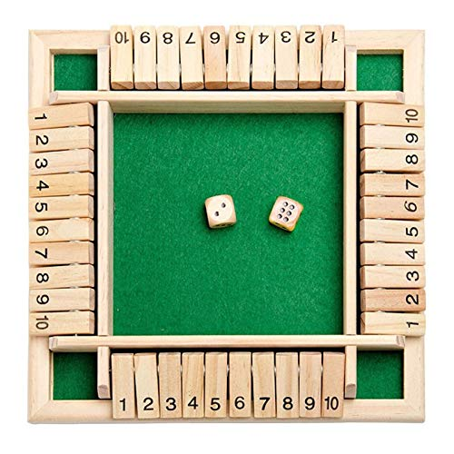 Holz Tisch Spiel Klassisch,4 Spieler Digital Flop Game,Spieler Shut The Box,Holz Brettspiel Mathe,Holz Tisch Spiel Würfelspiel,Holz Brettspiel,Holz Brettspiel,Schließen Sie Die Box