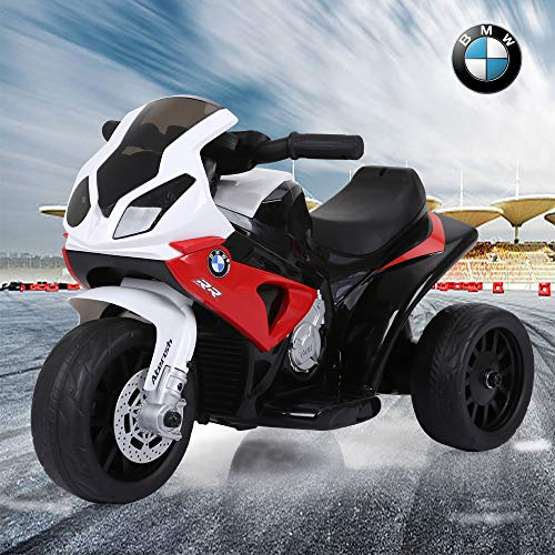 BMW Electric Kids Ride on Motorcycle S1000RR Red Battery Powered Licensed...