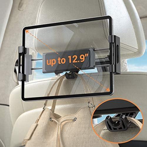 Car Headrest Tablet Mount Holder iPad Car Mount Bakel Headrest Tablet Holder Compatible with product image