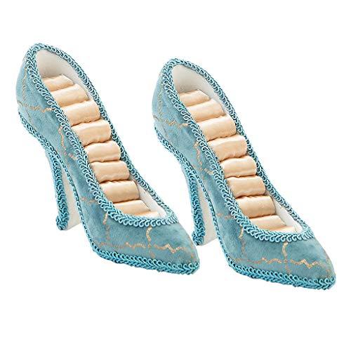 oshhni 2 Piezas Joyería Zapato Soporte de Joyería Soporte de Anillo Soporte de Joyería Soporte de Pendiente para