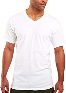 Fruit of the Loom Men's Stay Tucked V-Neck T-Shirt