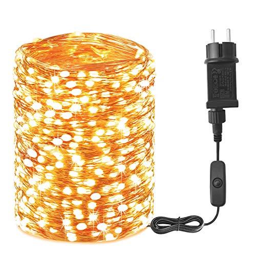 20M Guirnaldas Luces exterior - 200 LED Luces Led Exteriores