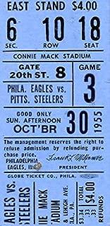 Philadelphia Eagles Ticket Stub 10/30/1955 vs Pittsburgh Steelers 142354