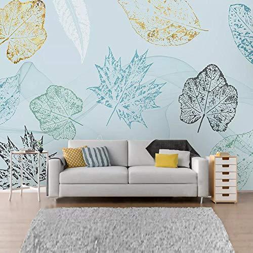 XIAOHUKK Self-Adhesive 3D Wallpaper Mural Modern Abstract Leaf Art Wall Decal Art Mural Wall Decal Living Room Bedroom Home Decoration Waterproof Sticker
