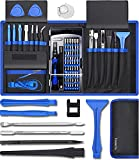 80 IN 1 Professional Computer Repair Tool Kit, Precision Laptop Screwdriver Set, with 56 Bits, Anti-Static Wrist and 24 Repair Tools, Compatible for Macbook, PC, Tablet, PS4, Xbox Controller Repair
